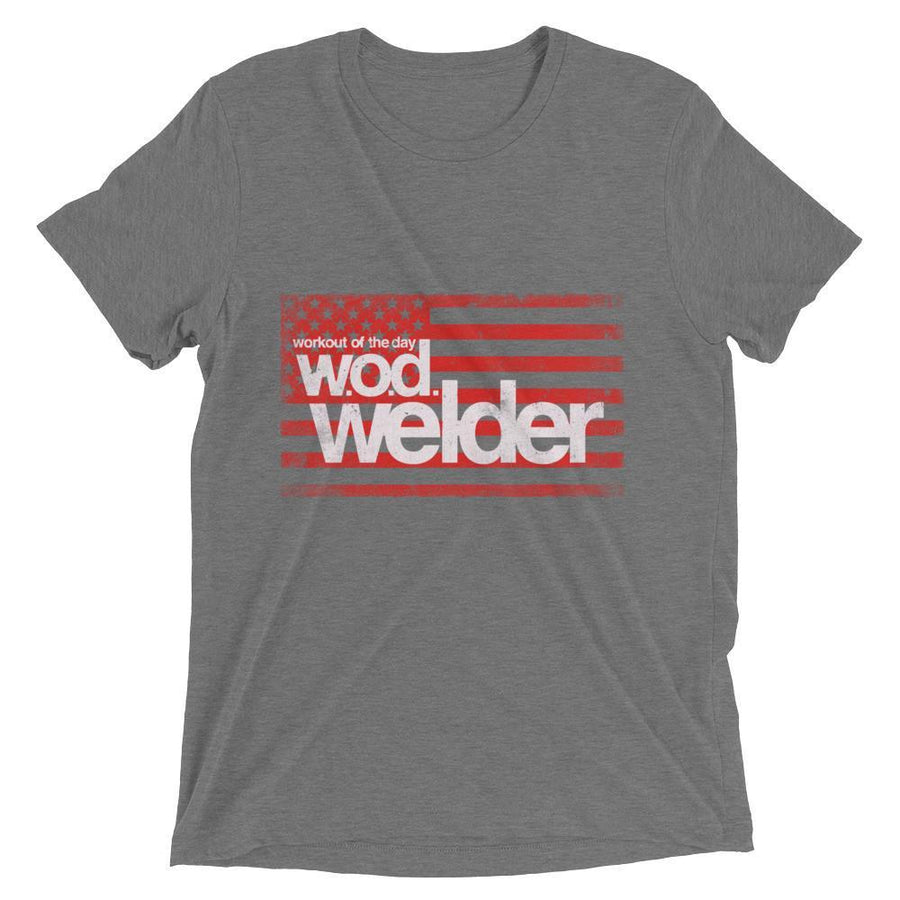 mens black gym tee shirt wod welder