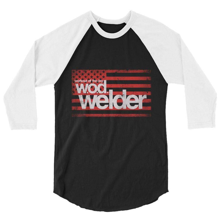 baseball tee grey and black wodwelder logo