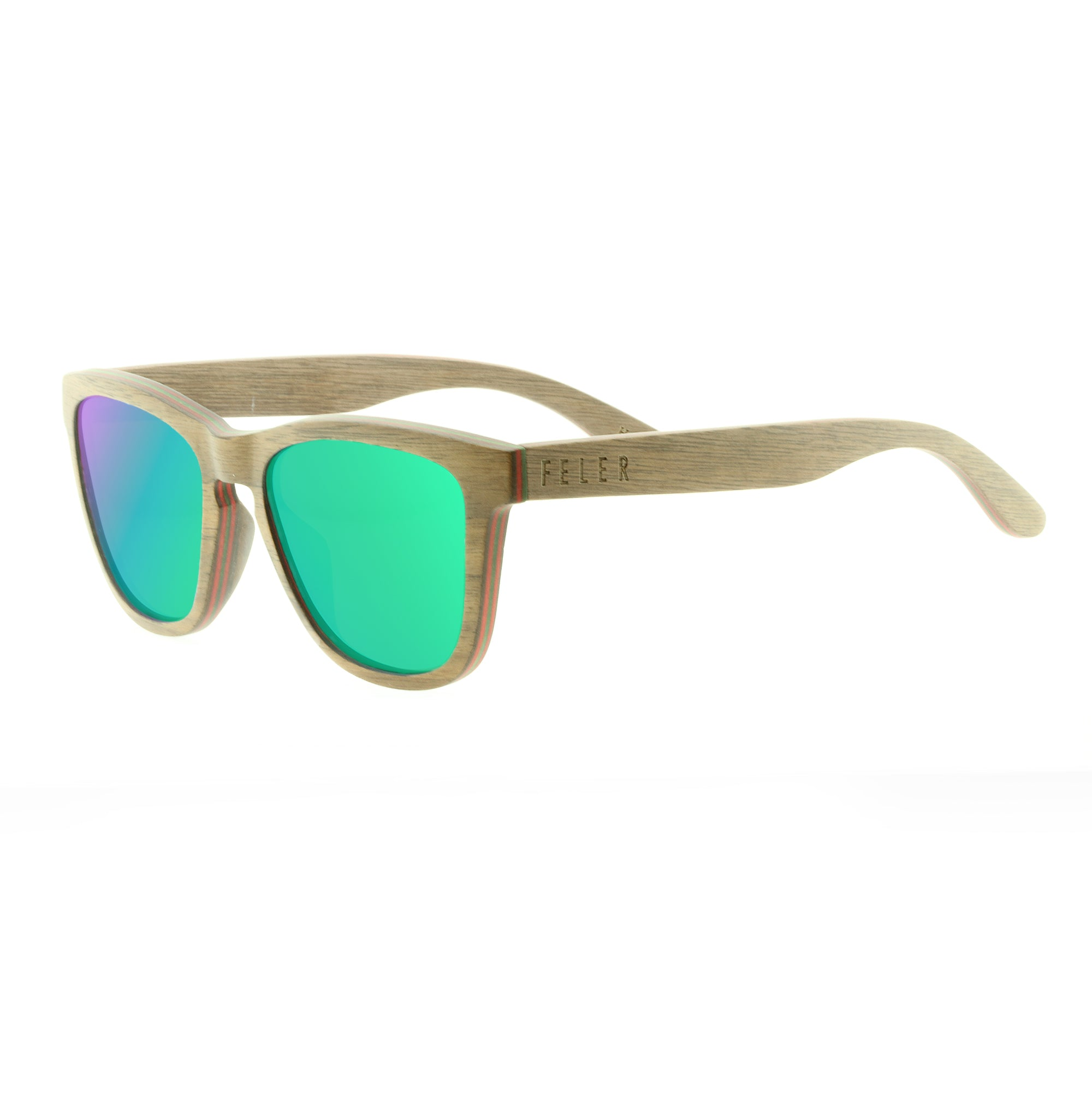 5b084cbab9 Regular Wood Green - Gafas de sol - Feler Sunglasses