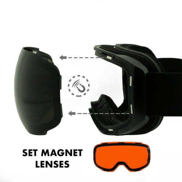 FELER - HX009 Black/Black Set Lenses