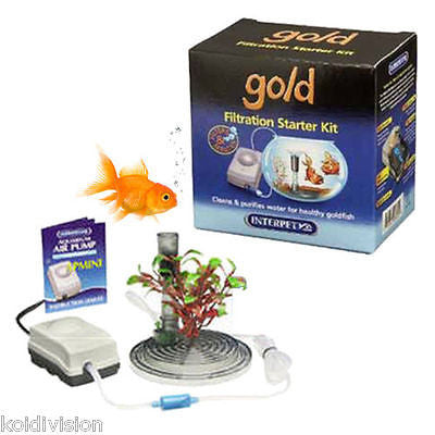 Interpet Gold Fish Bowl Starter Kit - Aquarium Kit - Koidivision