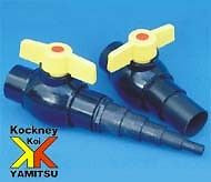 "Kockney Koi 1.5"" Ball Valve + hosetail - Connectors and Valves - Koidivision"