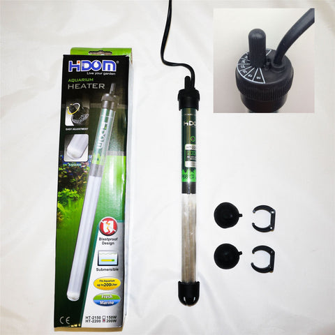 Hidom Submersible Tropical Aquarium Heater & Thermostat 50/100/200/300w - Aquarium Heaters - Koidivision - 1