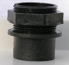 "1.5"" (40mm) THREADED TANK CONNECTOR (koi,pond,quarantine,vat) - Connectors and Valves - Koidivision"