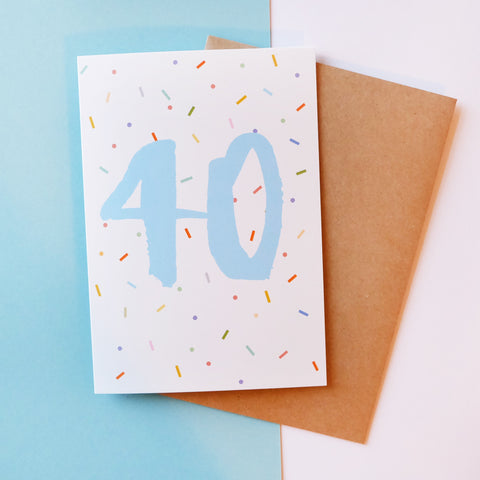 '40' Brush Lettering Card