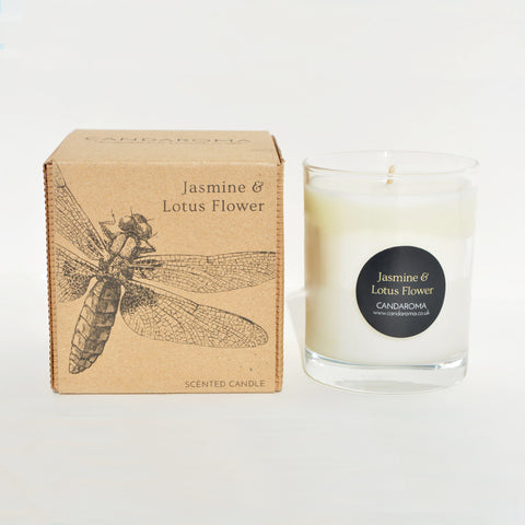 Candaroma Jasmine and Lotus Flower Soy Wax Candle