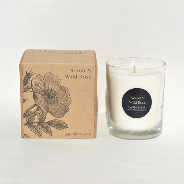 Candaroma Neroli and Wild Rose Soy Wax Candle