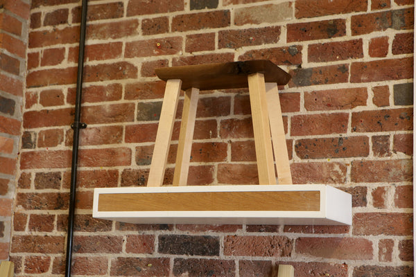 Floating Shelves | Oak + White | The Shop-Fit Collection