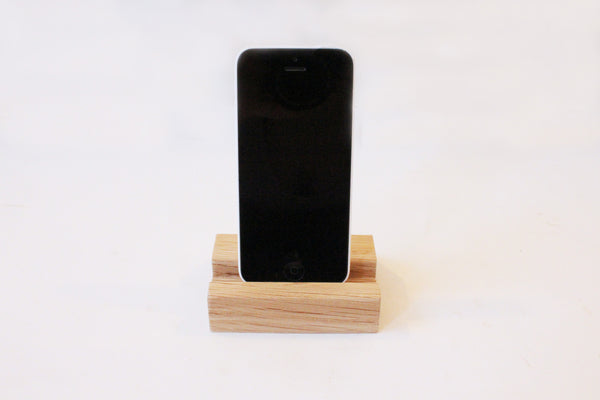 Handmade Wooden Phone Stand in Oak