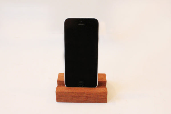 Handmade Wooden Phone Stand in Sapele