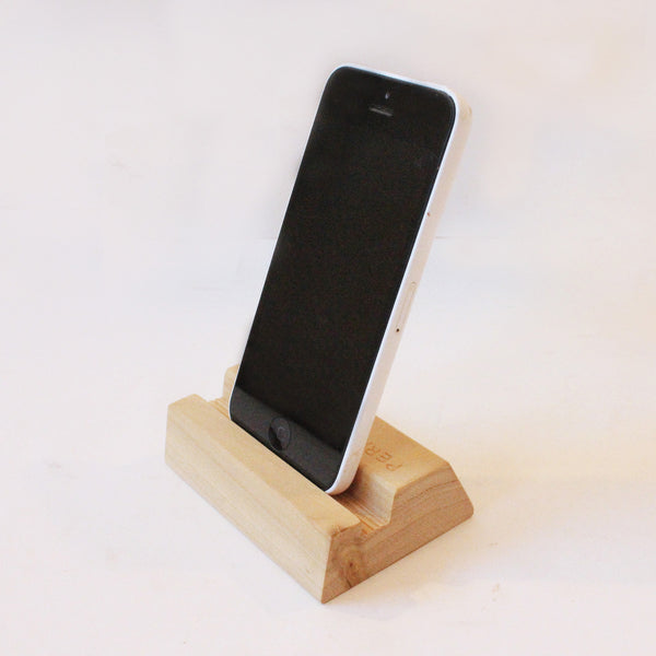 Handmade Wooden Phone Stand in Tulip Wood
