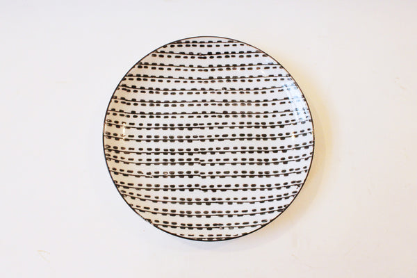 Dash Pattern Ceramic Plate