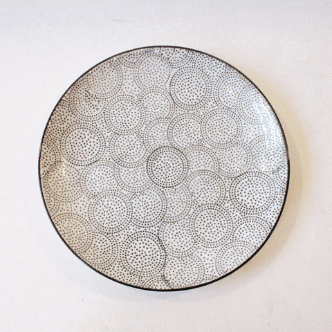 Dot Pattern Ceramic Plate