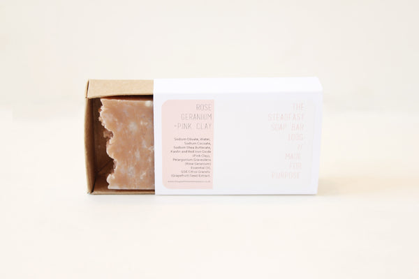 The Steadfast Soap Bar | Rose Geranium + Pink Clay
