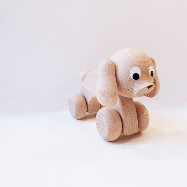 Wooden Roll-Along Dog