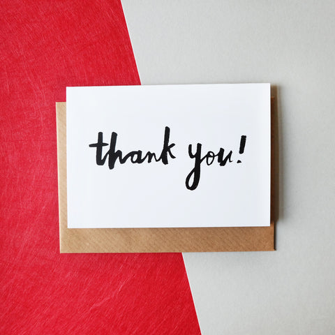 'Thank You!' Brush Lettering Card