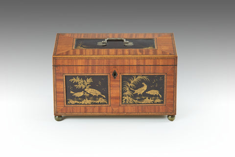 A 19th Century Scroll Box - MS188