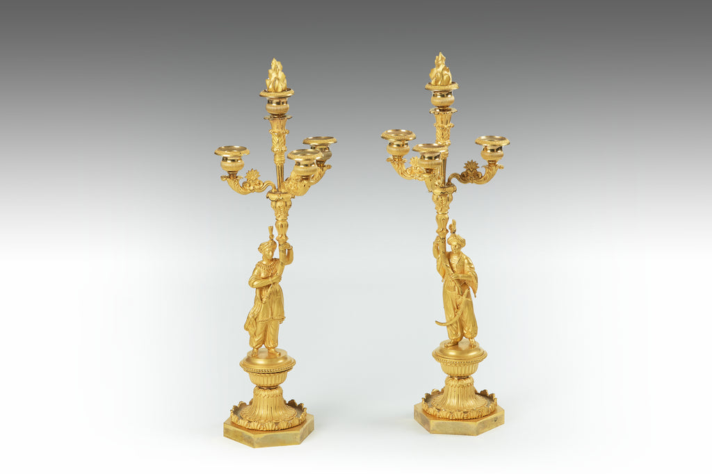 A Pair of 19th Century Candleabra - MS200