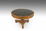 A 19th Century Pollard Oak Drum Table - TB714