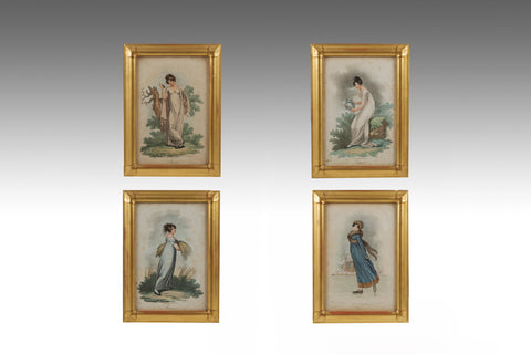 A Pair of 19th Century Italian Gouache Pictures - PTG109