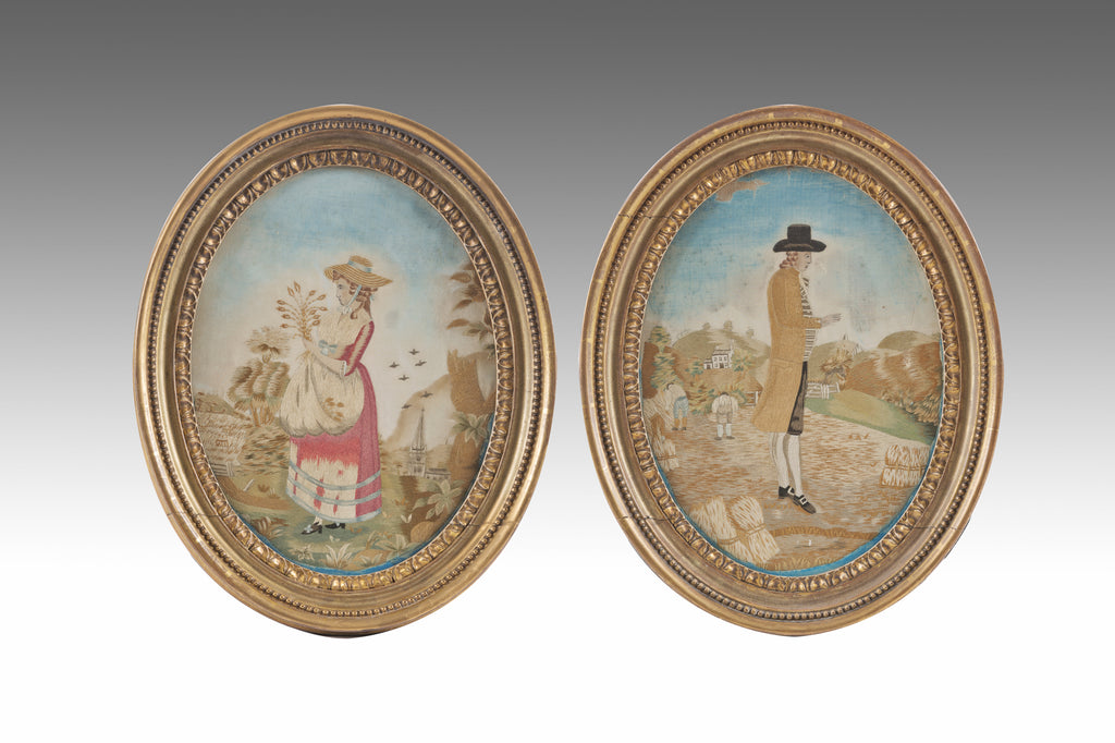 A Pair of Needlework Pictures - PTG113