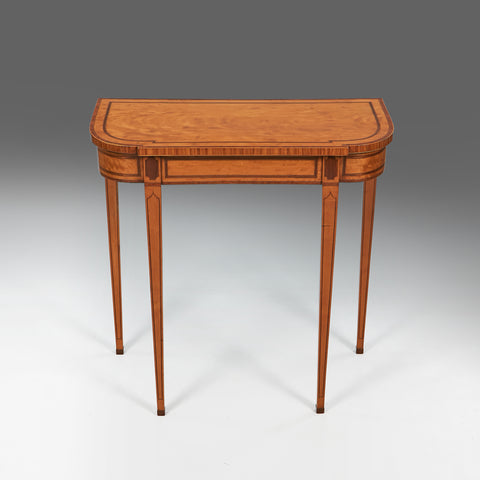 A Fine Pair of Satinwood Side Tables - TB412