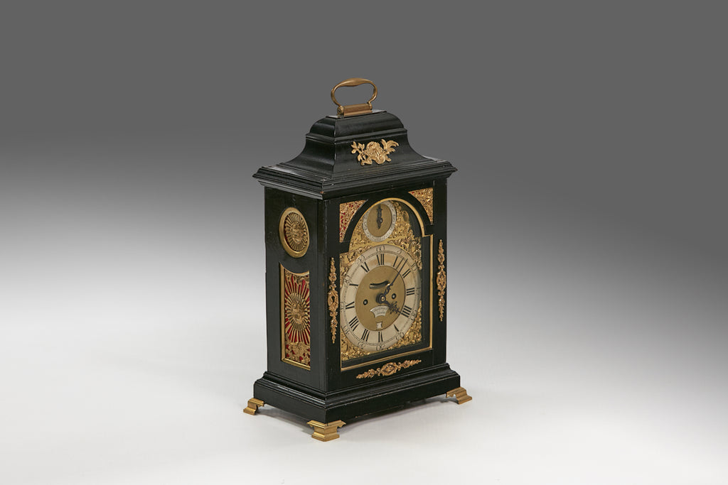 An Ebonised Bracket Clock by James Tregent - MS175