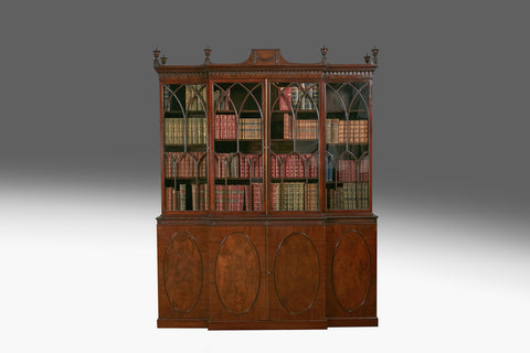 A Georgian Breakfront Bookcase - BCB155
