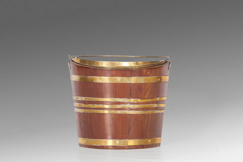A Georgian Ribbed Peat Bucket - BUC115