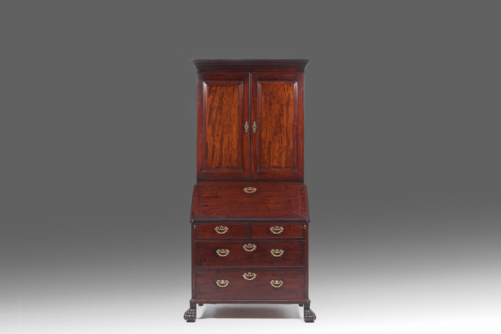 Irish Red Walnut Bureau Bookcase - BCB 118