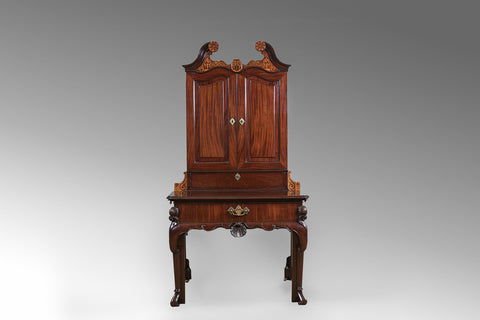 An 18th Century Walnut Bureau Bookcase - BCB156
