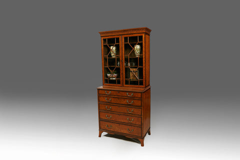 A Fine Georgian Secretaire Bookcase - BCB153