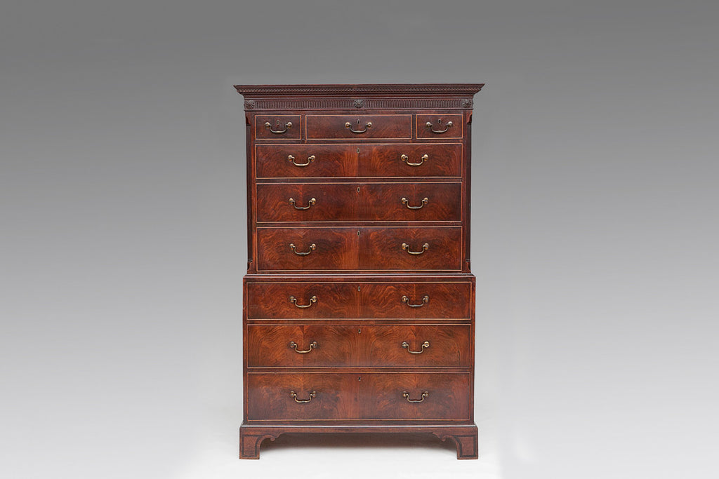 A Georgian Mahogany Chest on Chest - CCT115