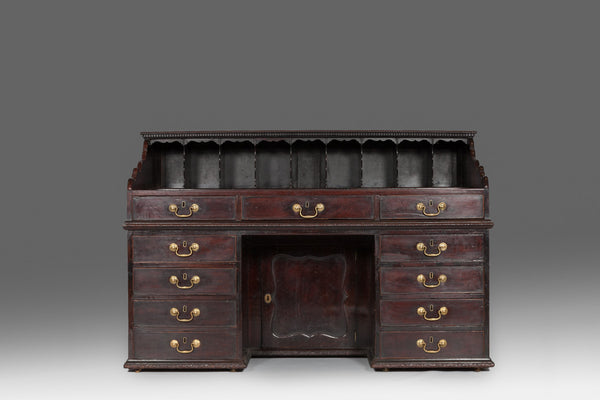 Fine And Rare Mahogany Kneehole Desk DK105 - Fine And Rare Mahogany Kneehole Desk DK105 – Johnston Antiques
