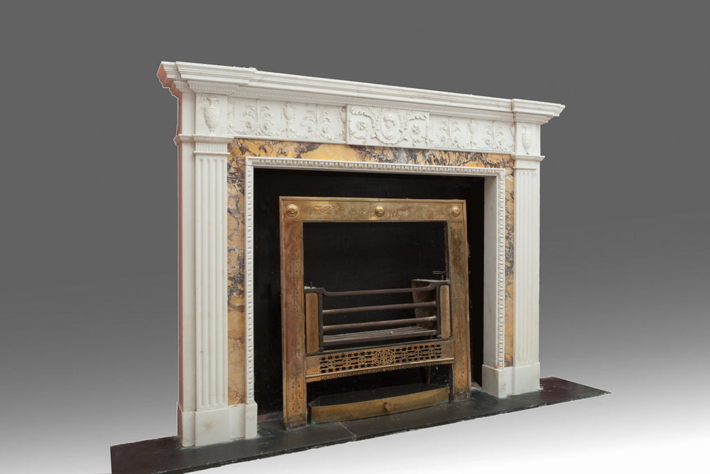An Adam Sienna Marble Fireplace - FP107