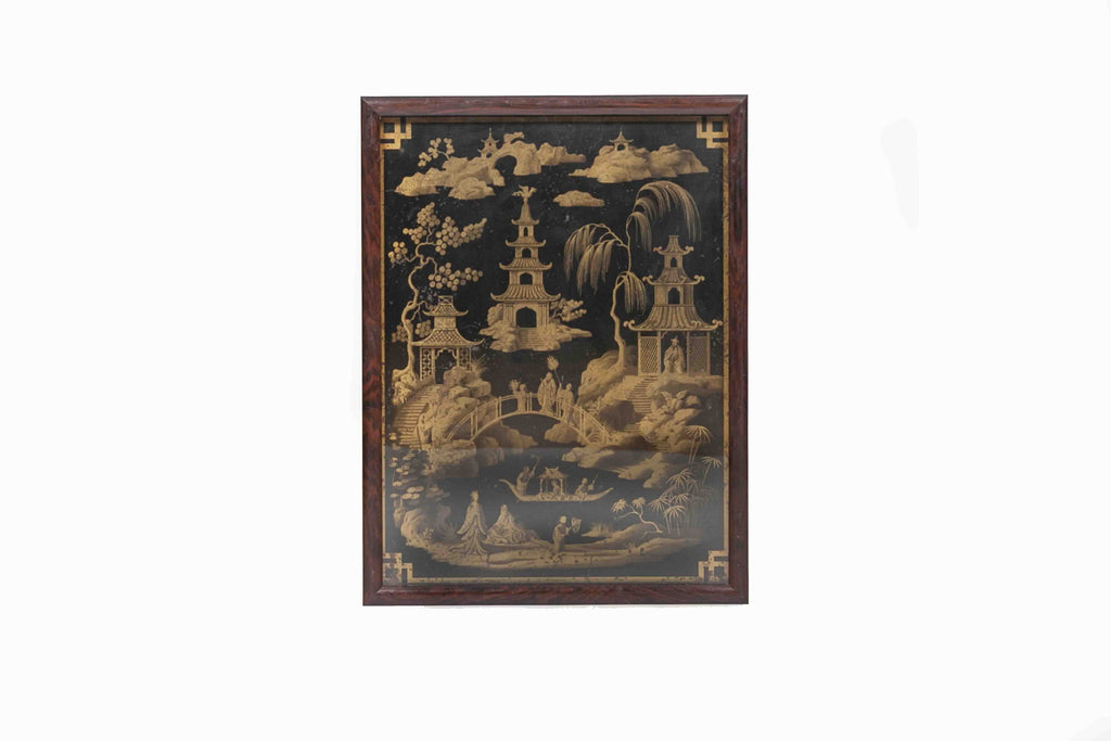 19th Century Lacquer Panel