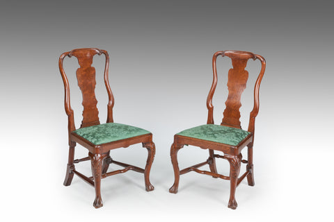 A Pair of 18th Century Walnut Side Chairs - ST510