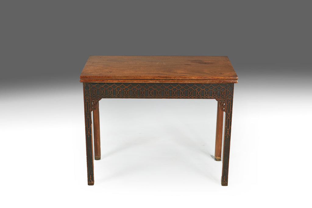 A Georgian Concertina Action Card Table - REST10