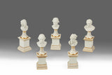 A Set of Five Miniature Busts - MS 184