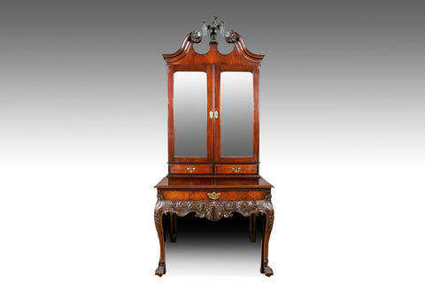 A Georgian Mirror Door Cabinet - REST21