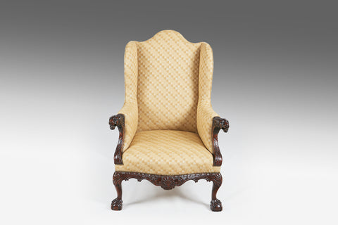 A Rare Irish Georgian Wing Chair - ST301