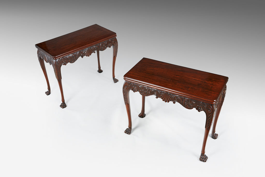An Extremely Rare Pair of Card Tables - TB604