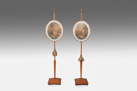 A Rare Pair of Georgian Pole Screens - MS185