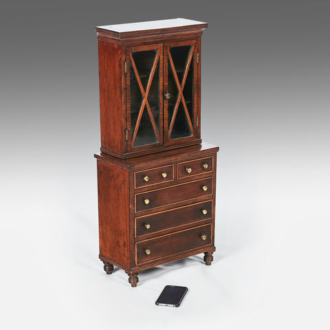 A Miniature 18th Century Bookcase - MS182