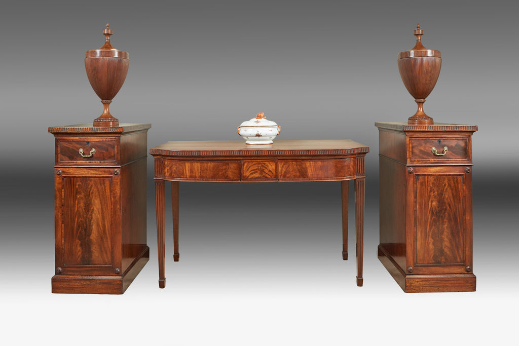 An Adam Table, Pair of Cupboards and Urns - TB 710