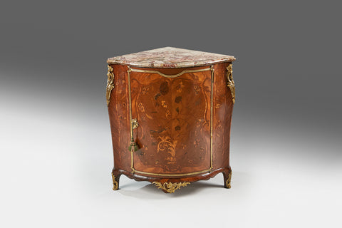 A French Marquetry Corner Cupboard - CP107