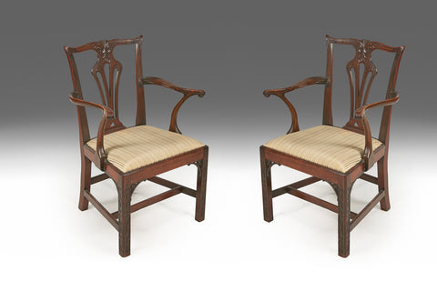 A Pair of Chippendale Armchairs - ST433