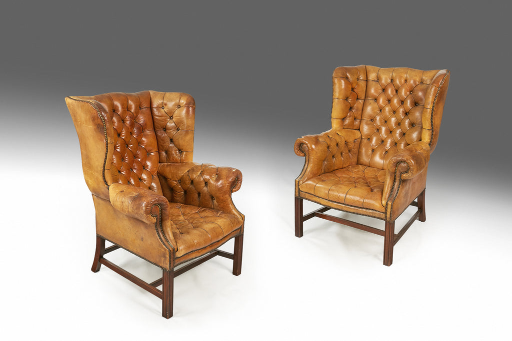 A Pair of Leather Armchairs - ST432