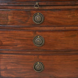 A Georgian Bow Front Chest of Drawers - CCT231