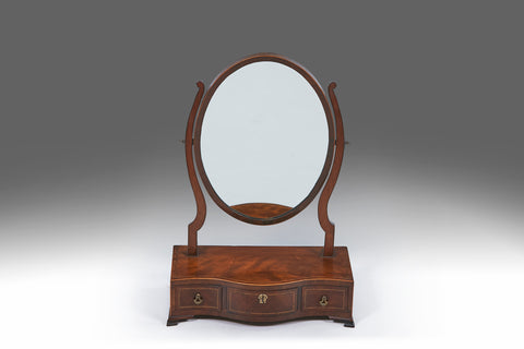 A Rare Irish Mirror With Architectural Top - MR122